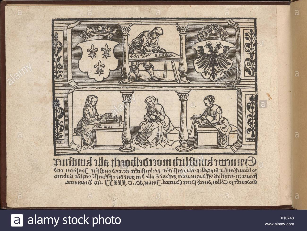 Eyn Newe kunstlich moetdelboech alle kunst. Publisher: Peter Quentel (German, active Cologne, 1518-46) , Cologne; Date: 1532; Medium: Woodcut; - Stock Image