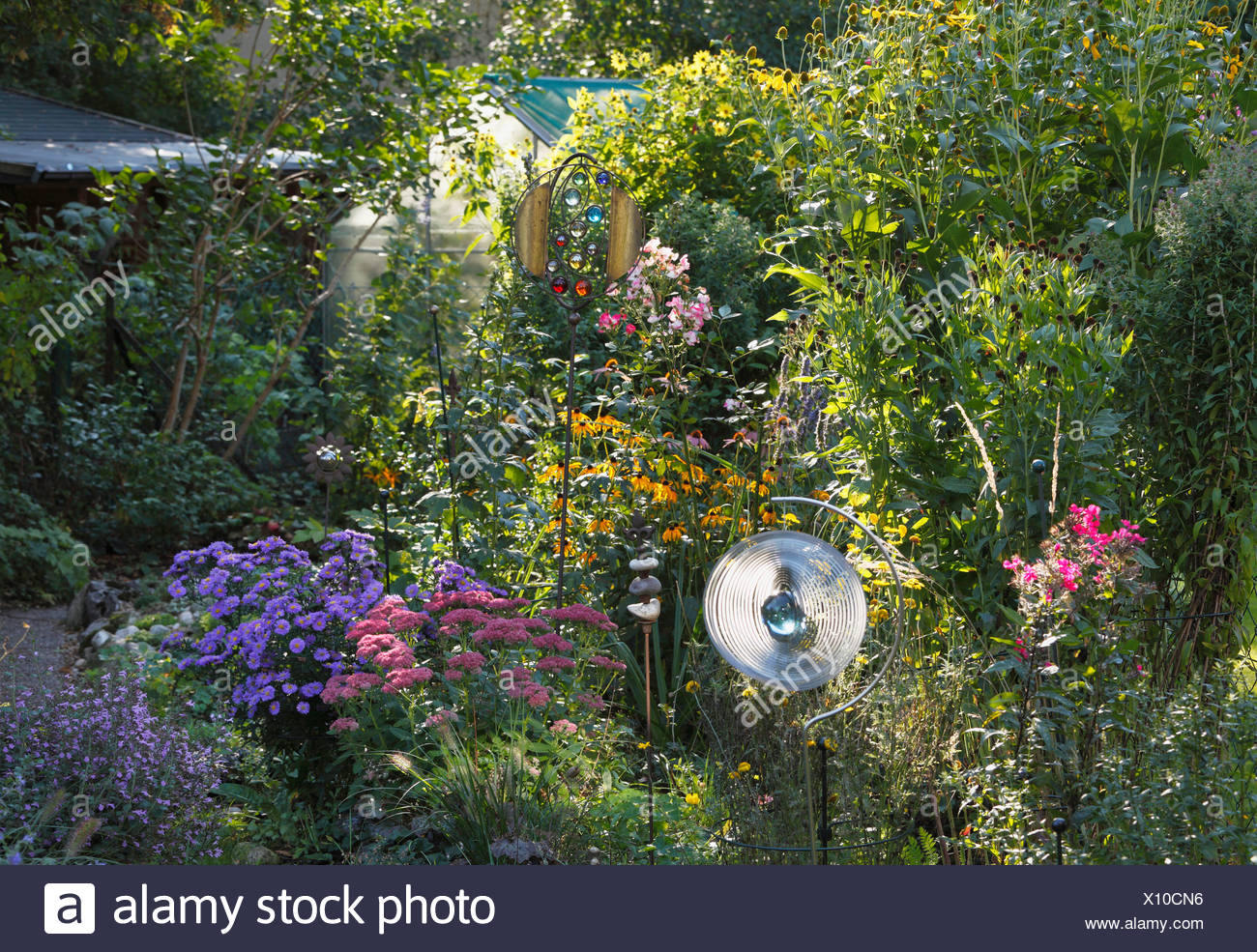 Perennial Plants In A Flower Bed Small Garden Geretsried