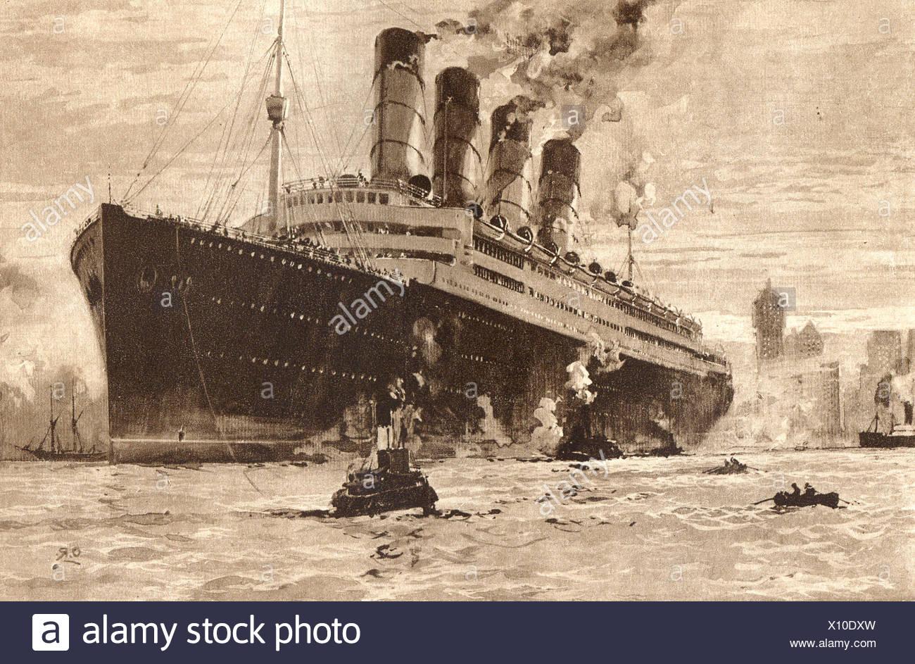 #php.01502 Photo RMS AQUITANIA CUNARD LINE PAQUEBOT OCEAN LINER