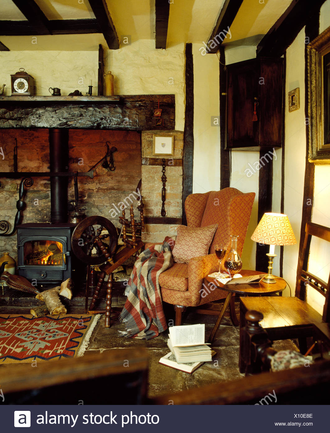 Traditional Country Cottage Livingroom Interior Stock Photo Alamy