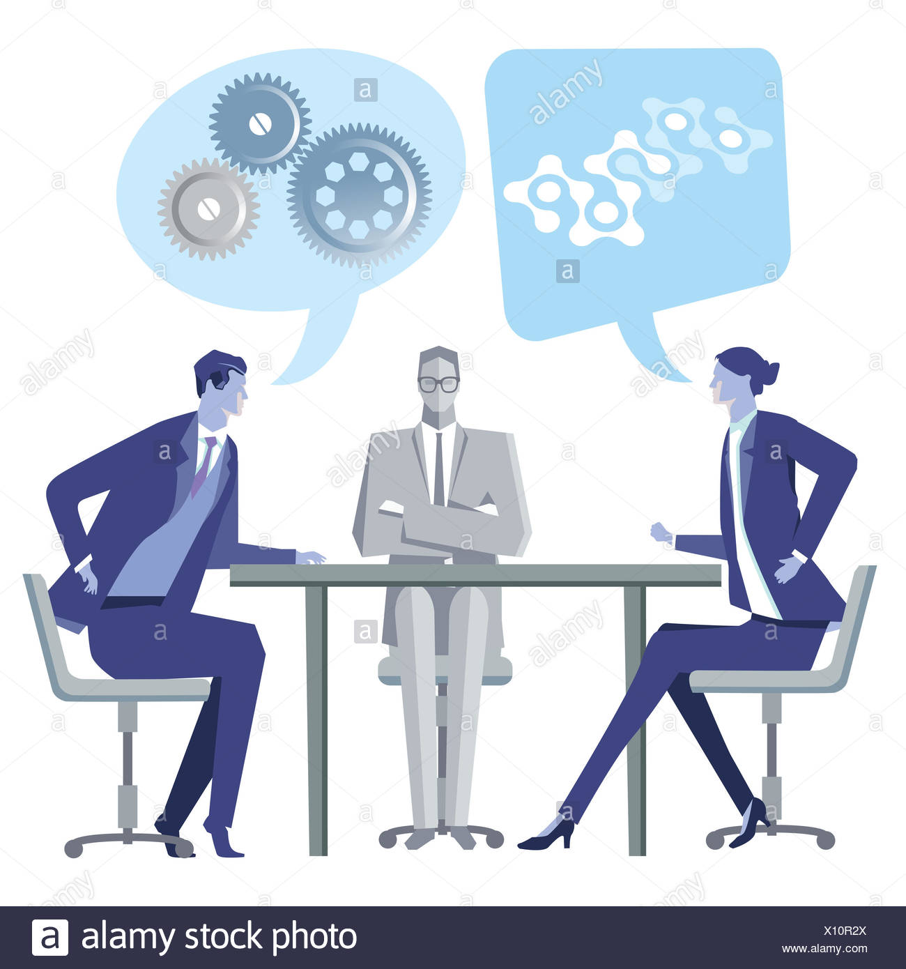 Discussion consultation meeting understanding - Stock Image