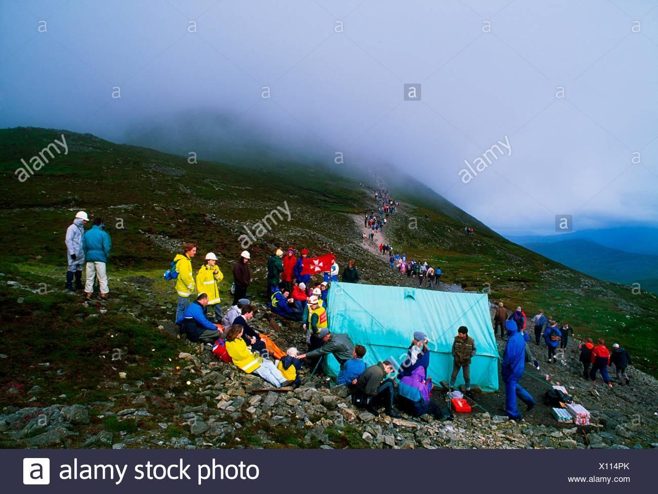 Croagh, Co Mayo, Ireland; Croagh Patrick Pilgrimage - Stock Image