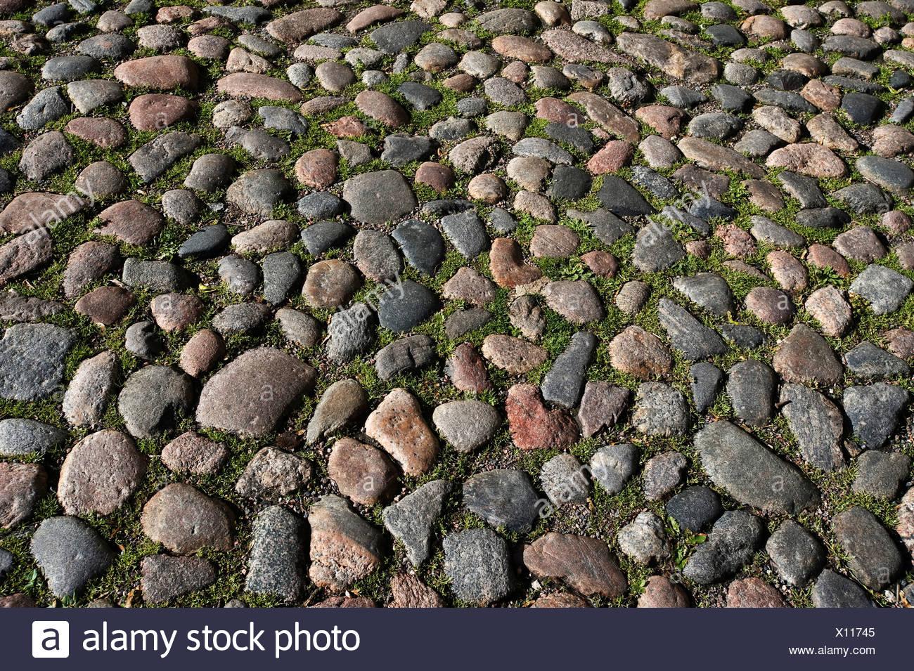 Cobblestones, Tallinn, Estonia, Baltic States Stock Photo