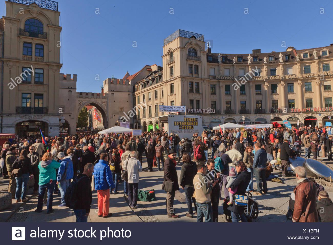 Occuyp Munich - Stock Image