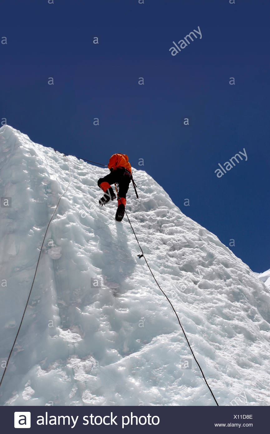 Everest Mountaineers - Nepal - Stock Image