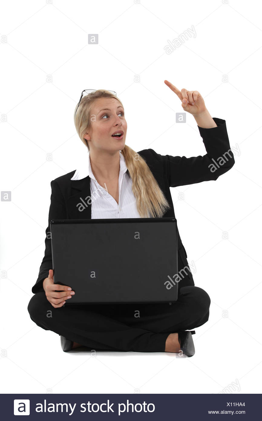Woman with an idea - Stock Image