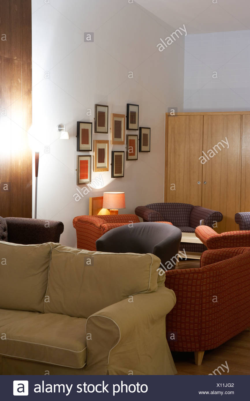 large comfy sofas in a restaurant Stock Photo: 276017058 - Alamy