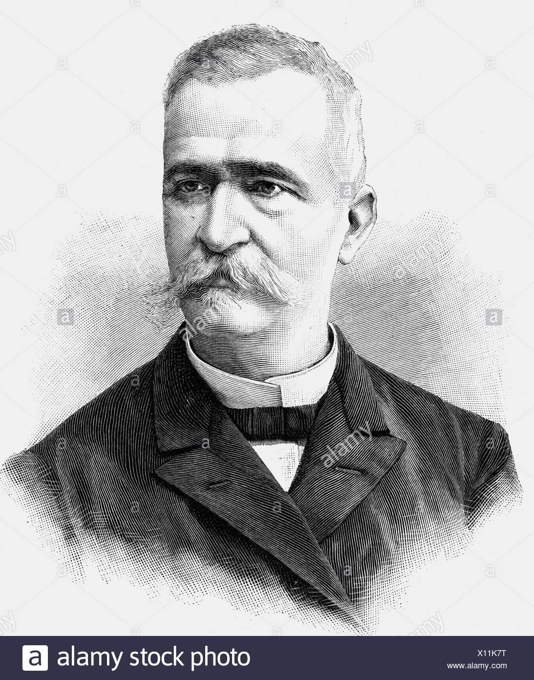Konstantopulus, Konstantin, * 1832, Greek politician, portrait, wood engraving, Additional-Rights-Clearances-NA - Stock Image