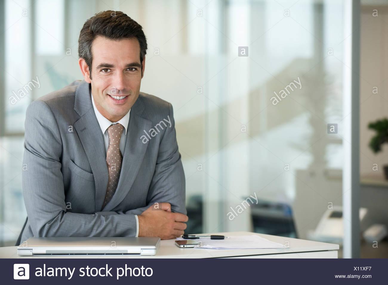 Male executive, portrait - Stock Image