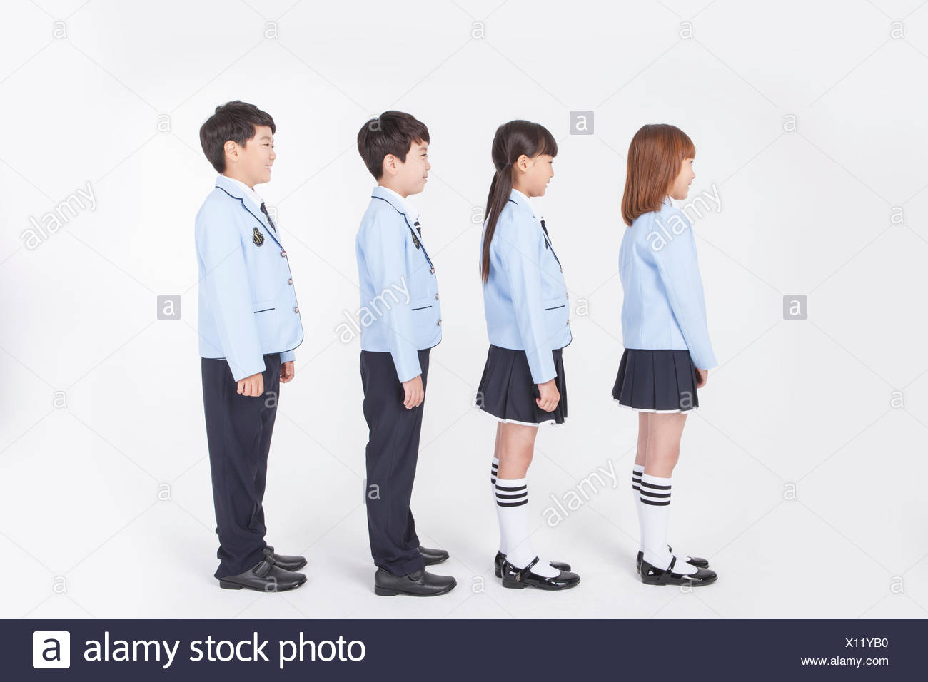 Students In School Uniforms Standing High Resolution Stock Photography And Images Alamy The severely cold weather, the unheated. alamy