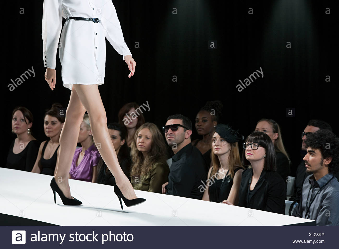 Fashion Show Runway Audience Audience watching mode...