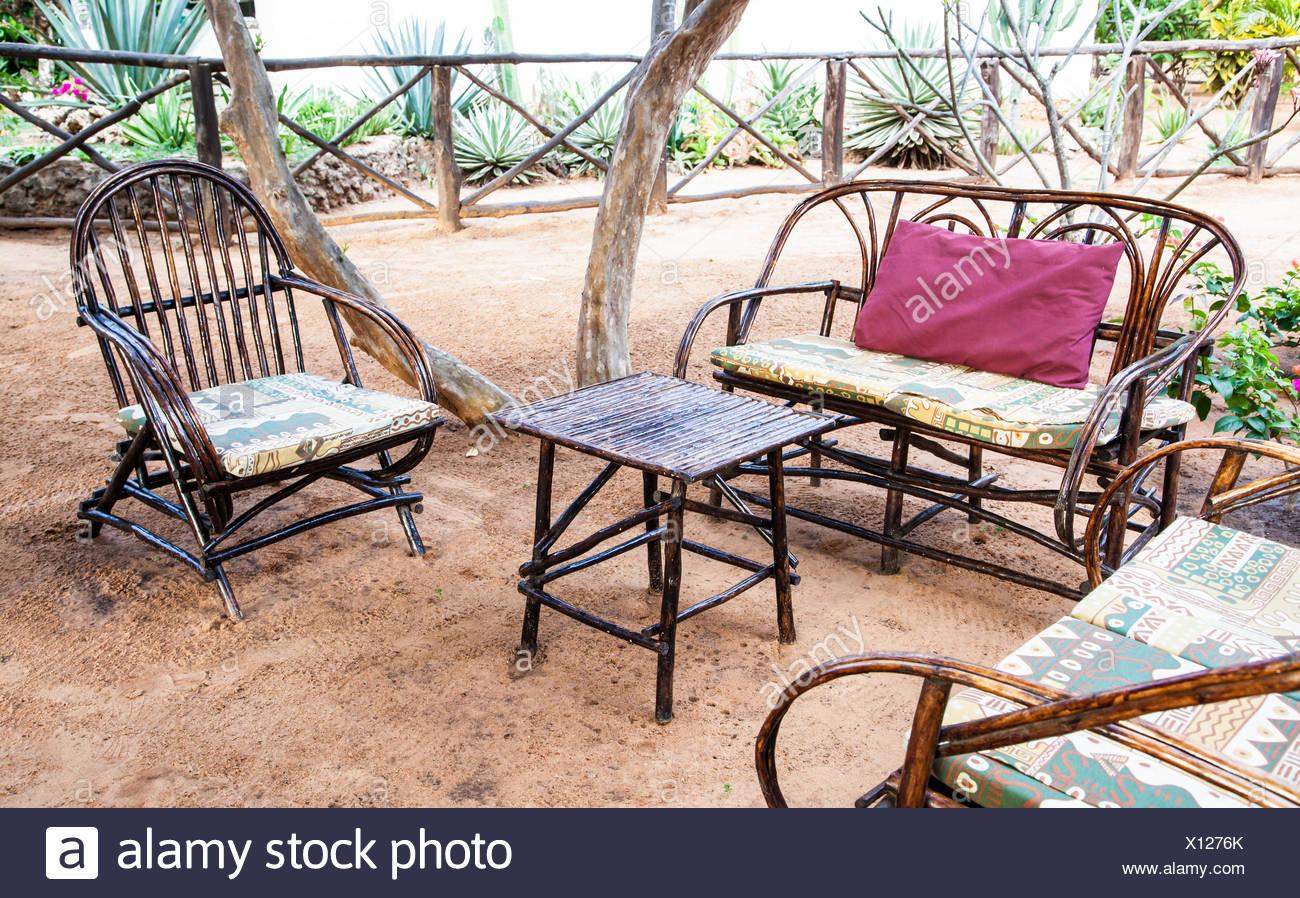 African Garden Furniture Garden chair elegant stock photos garden chair elegant stock elegant furniture made of wood in an african garden stock image workwithnaturefo