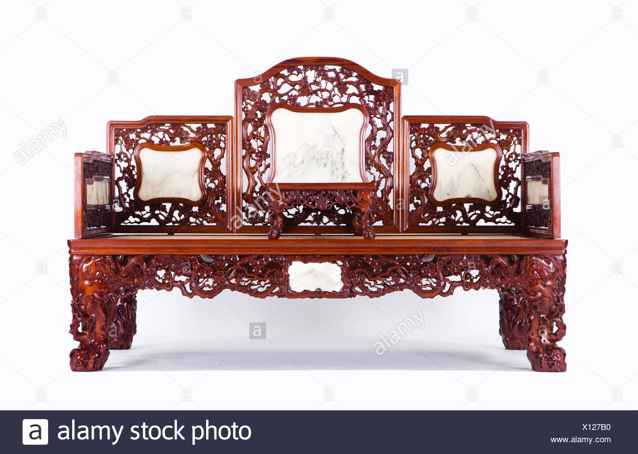 Chinese Couch - Stock Image