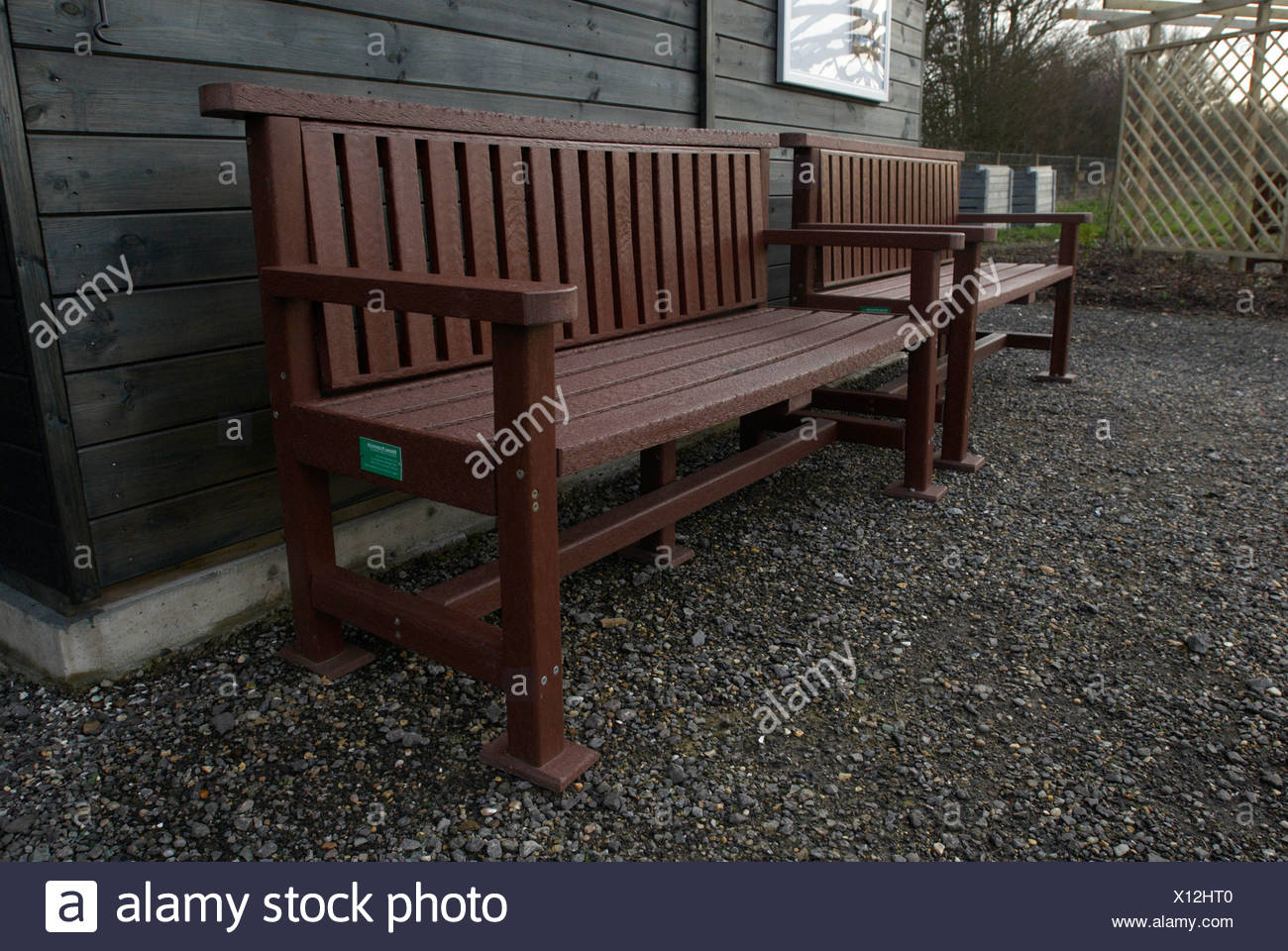 Remarkable Recycled Plastic Park Benches Stock Photo 276038448 Alamy Creativecarmelina Interior Chair Design Creativecarmelinacom