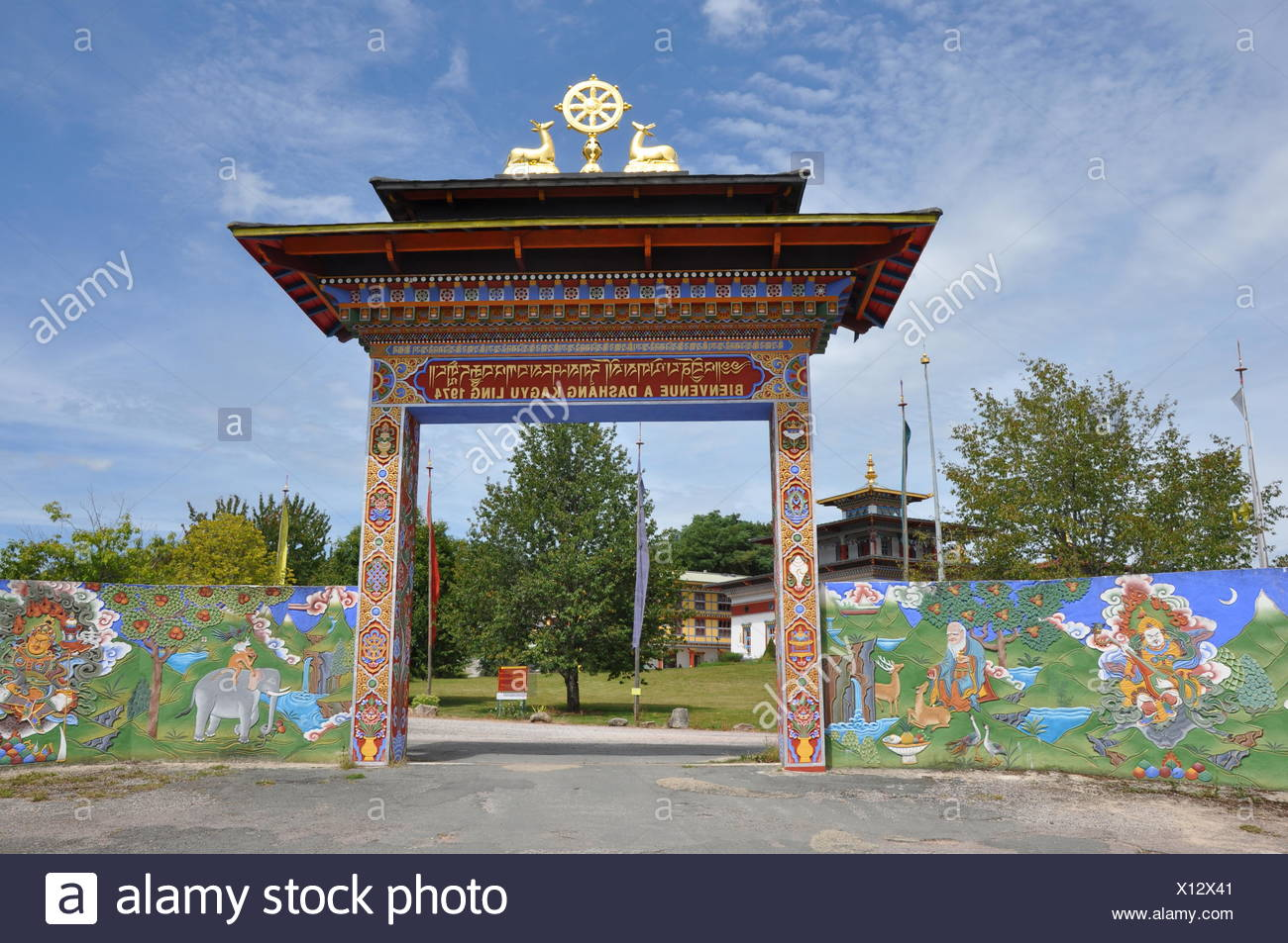 temple of a thousand buddhas,france - Stock Image