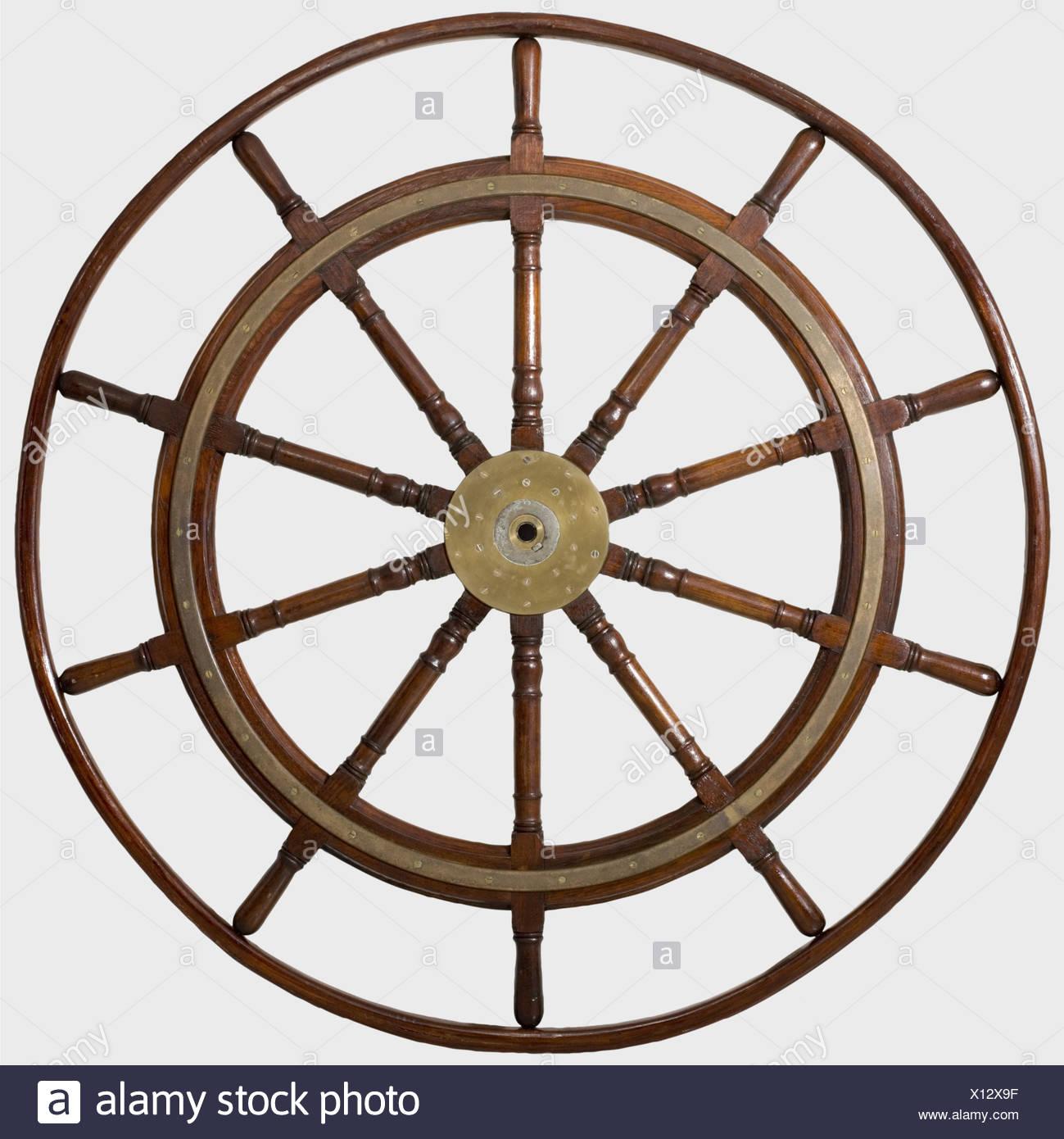 Wooden ship wheel ships stock photos