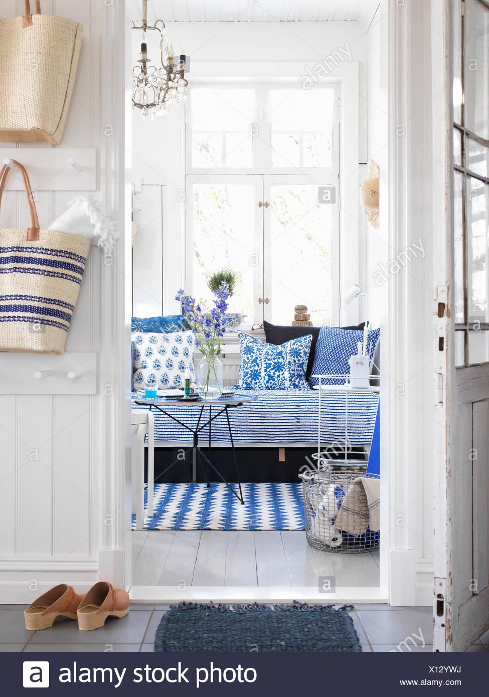 Sweden, Vastergotland, View of home interior - Stock Image