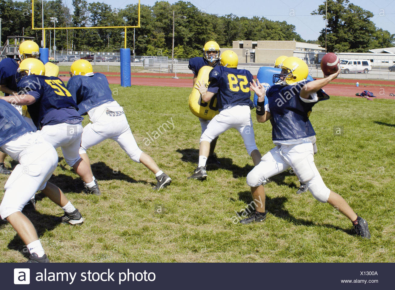High School Football Practice Action Stock Photo 276046410