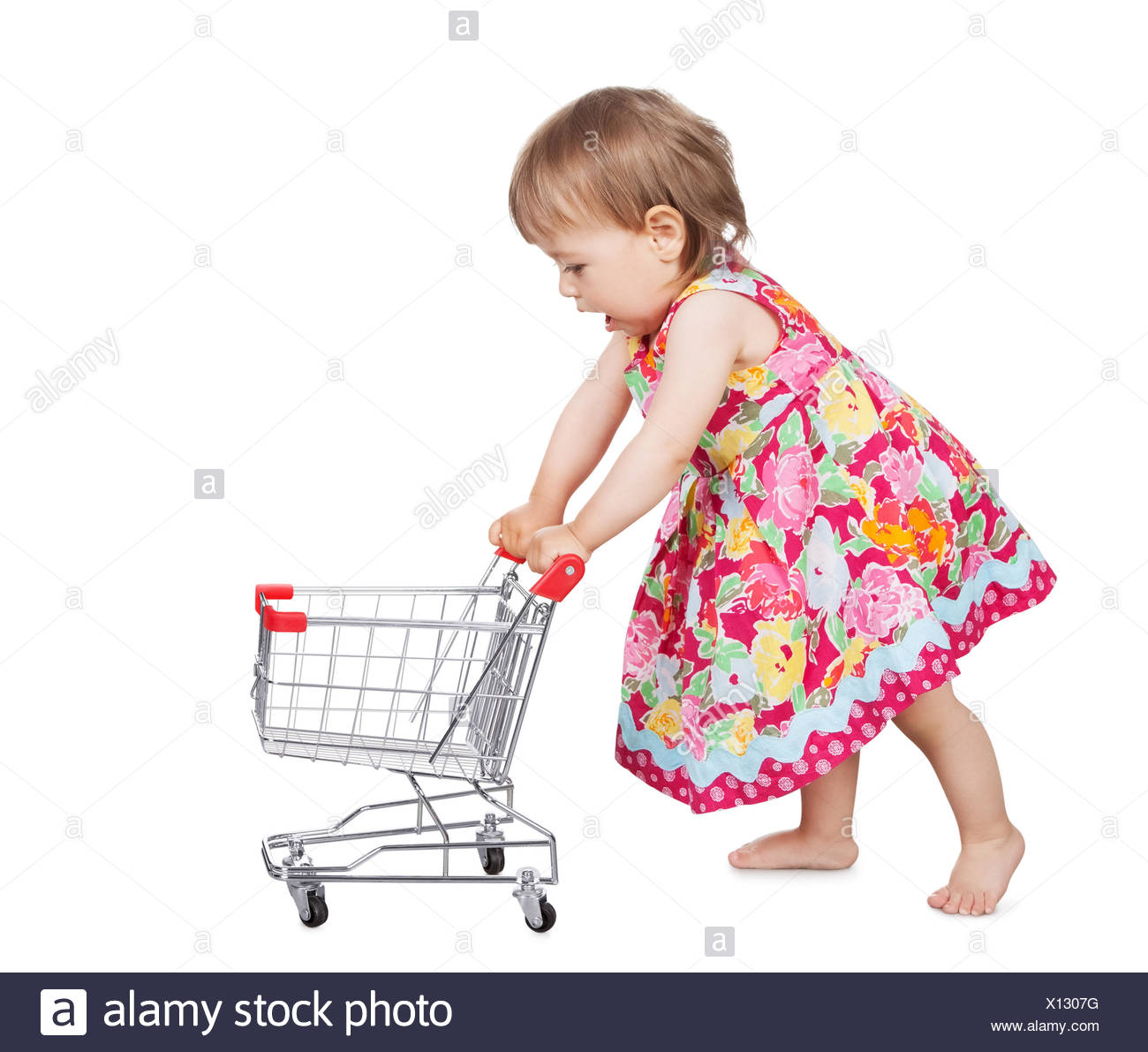 bda4fd0e27b3 Baby Girl Toy Shopping Cart Cut Out Stock Images   Pictures - Alamy