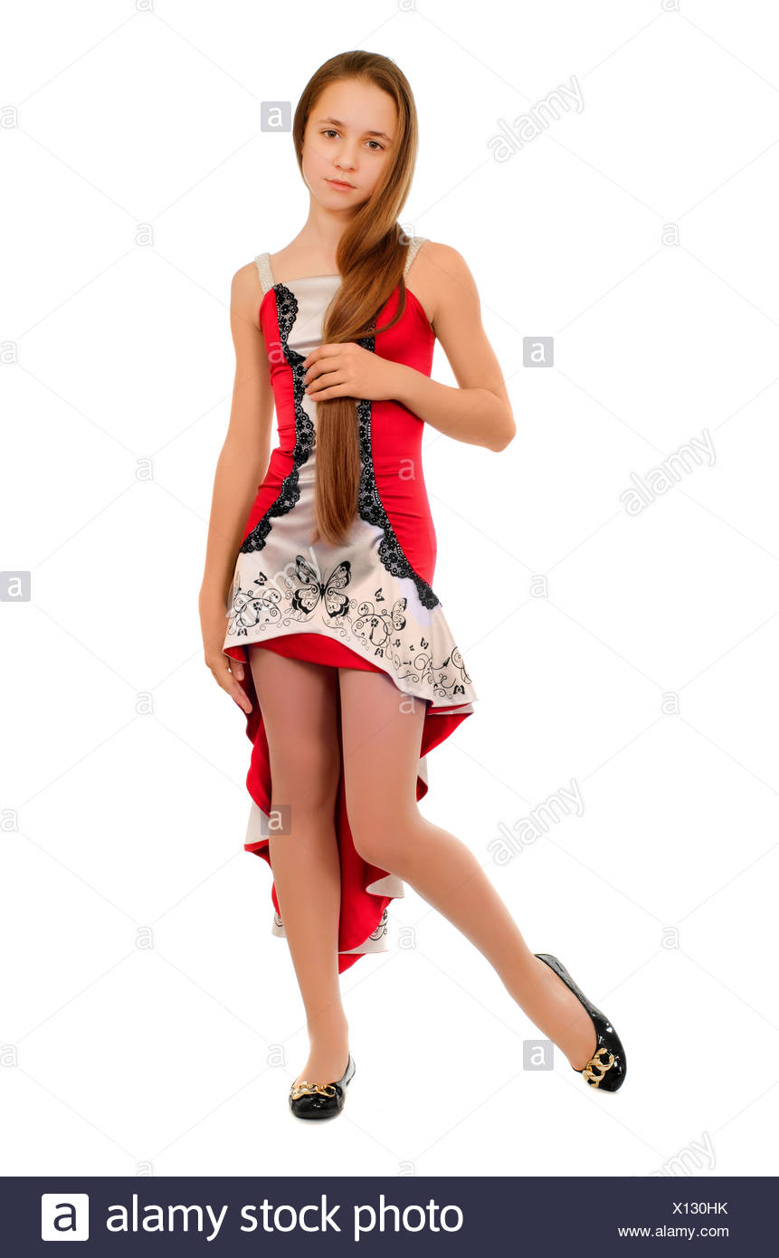 Cute Little Teenage Girl In High Resolution Stock Photography And Images Alamy