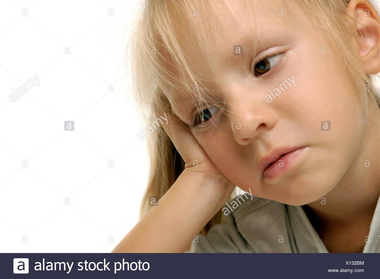 bored little girl - Stock Image
