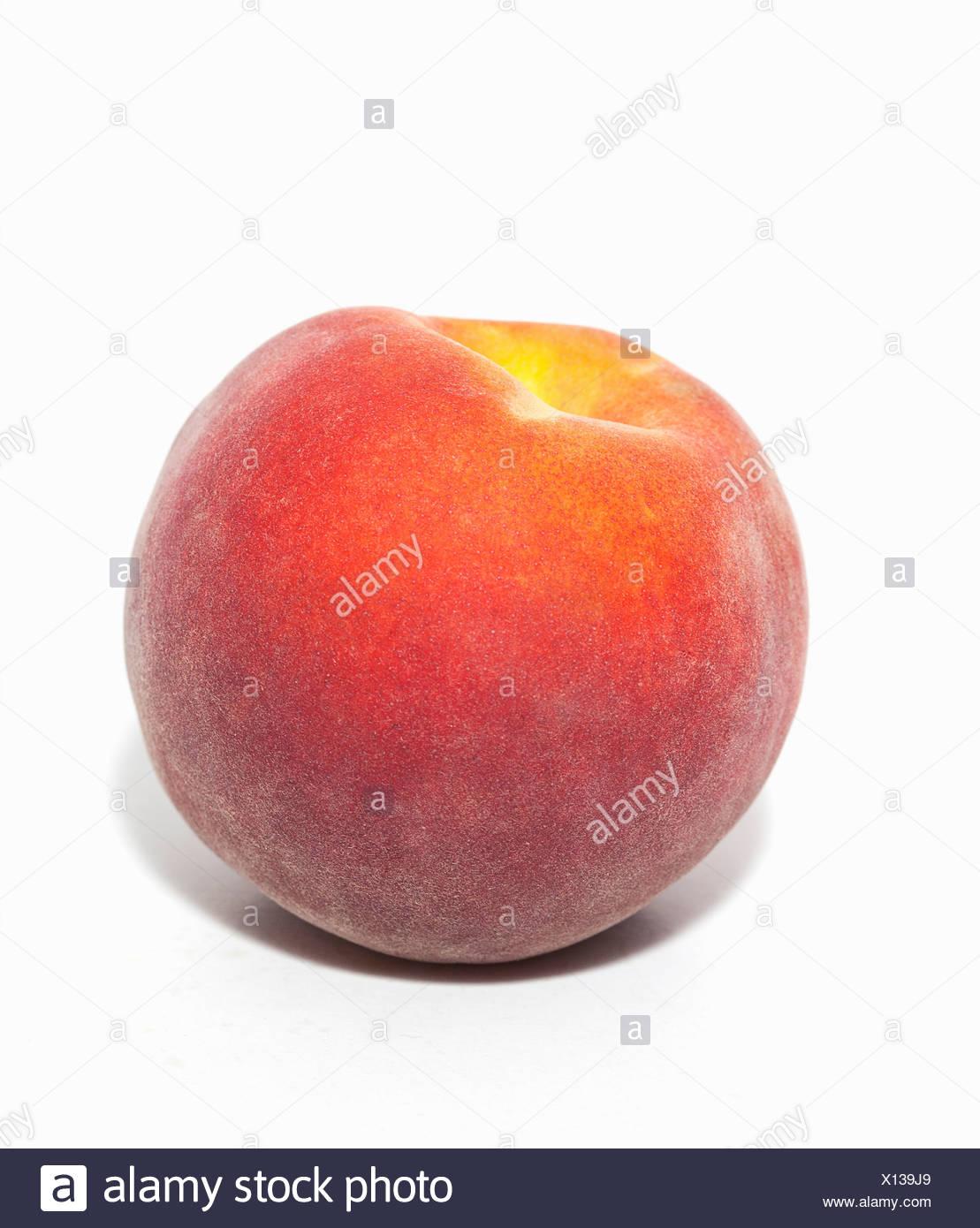 Whole peach - Stock Image