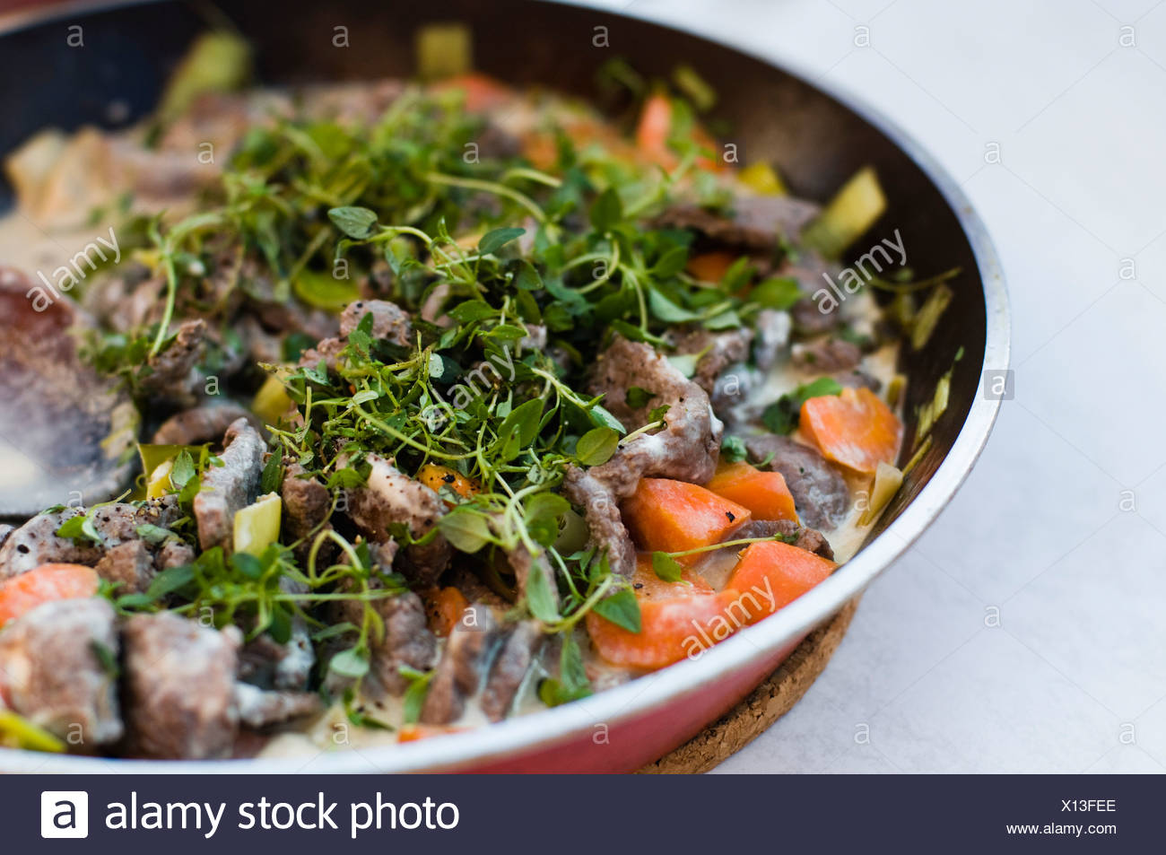 Brightly-coloured food Stock Photo
