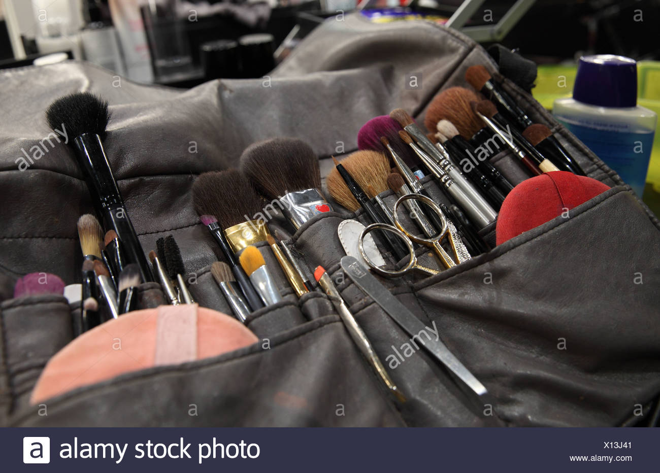 Berlin, Germany, various brush of makeup artists at Fashion Week - Stock Image