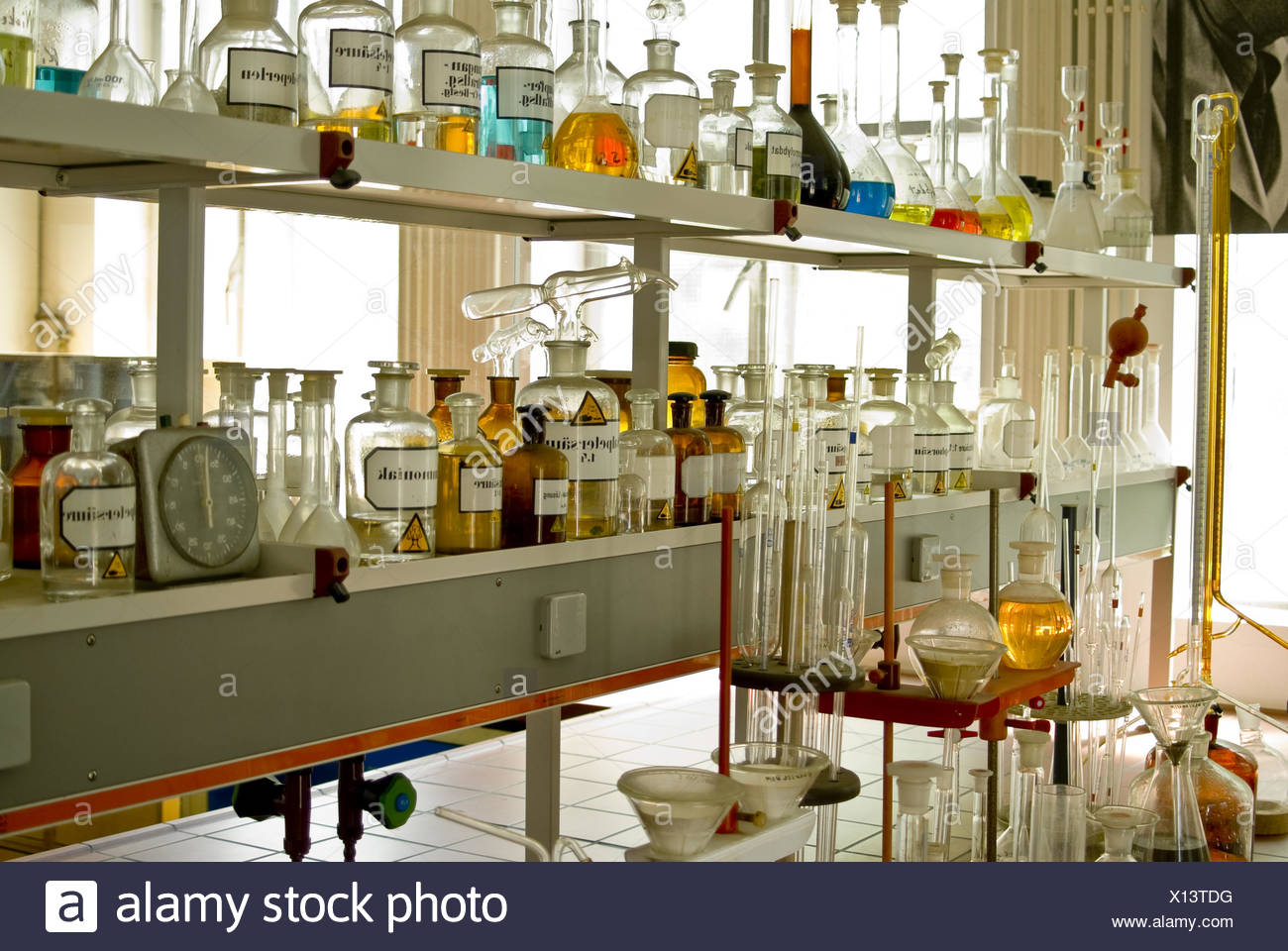 Chemical lab - Stock Image
