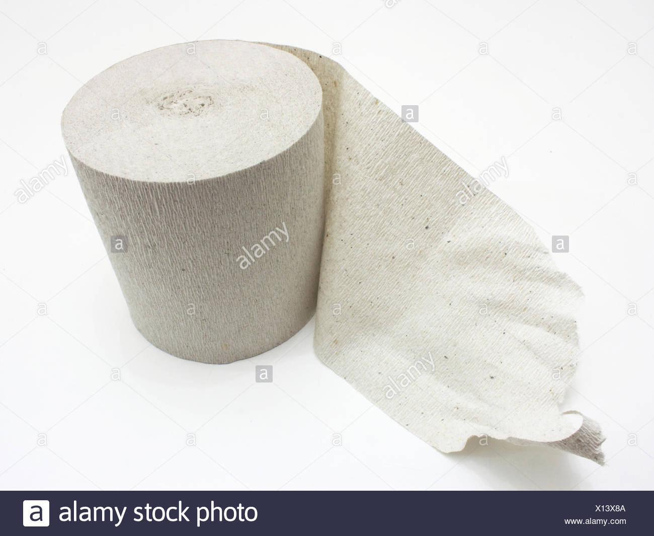 Roll of toilet paper - Stock Image