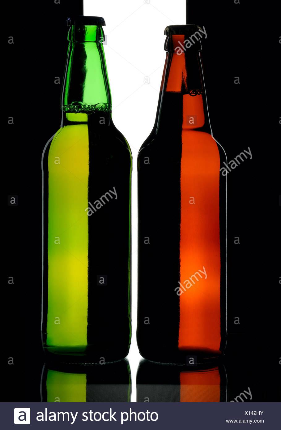 Bottles of beer - Stock Image