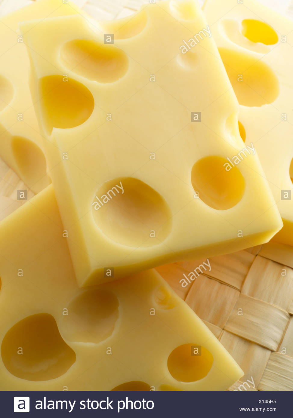 Slices of cheese - Stock Image