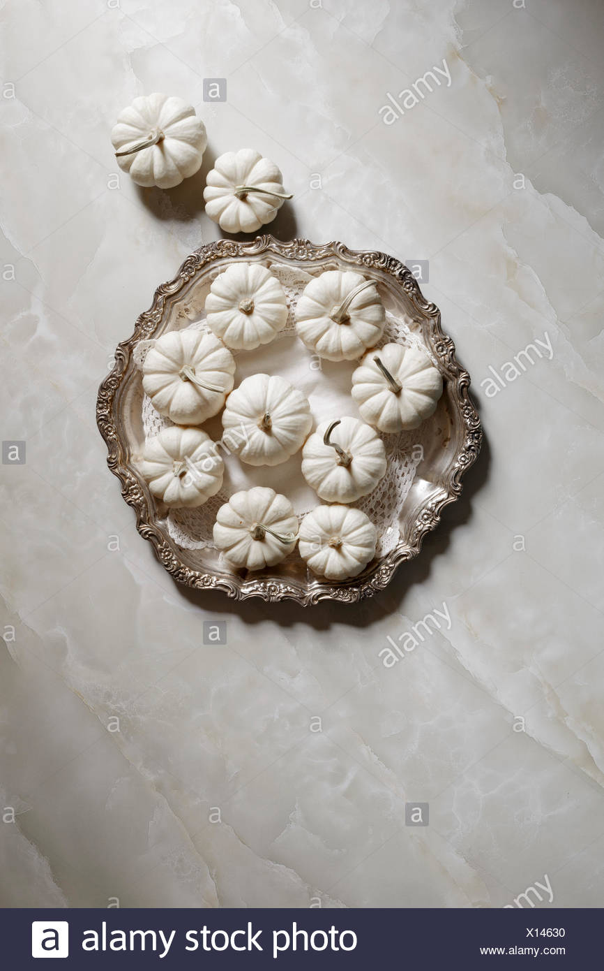 White Pumpkins - Stock Image