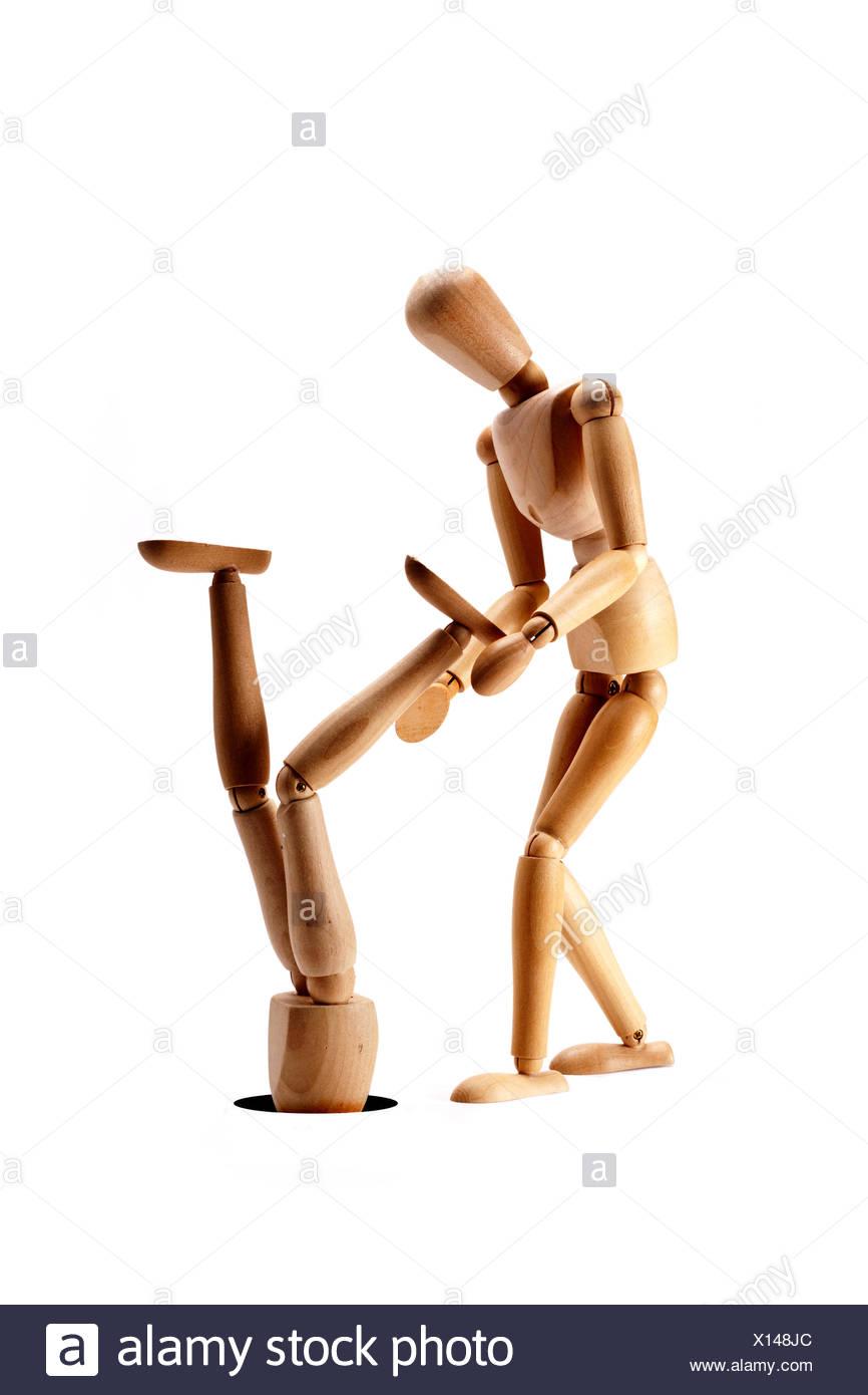 Helping hand. - Stock Image