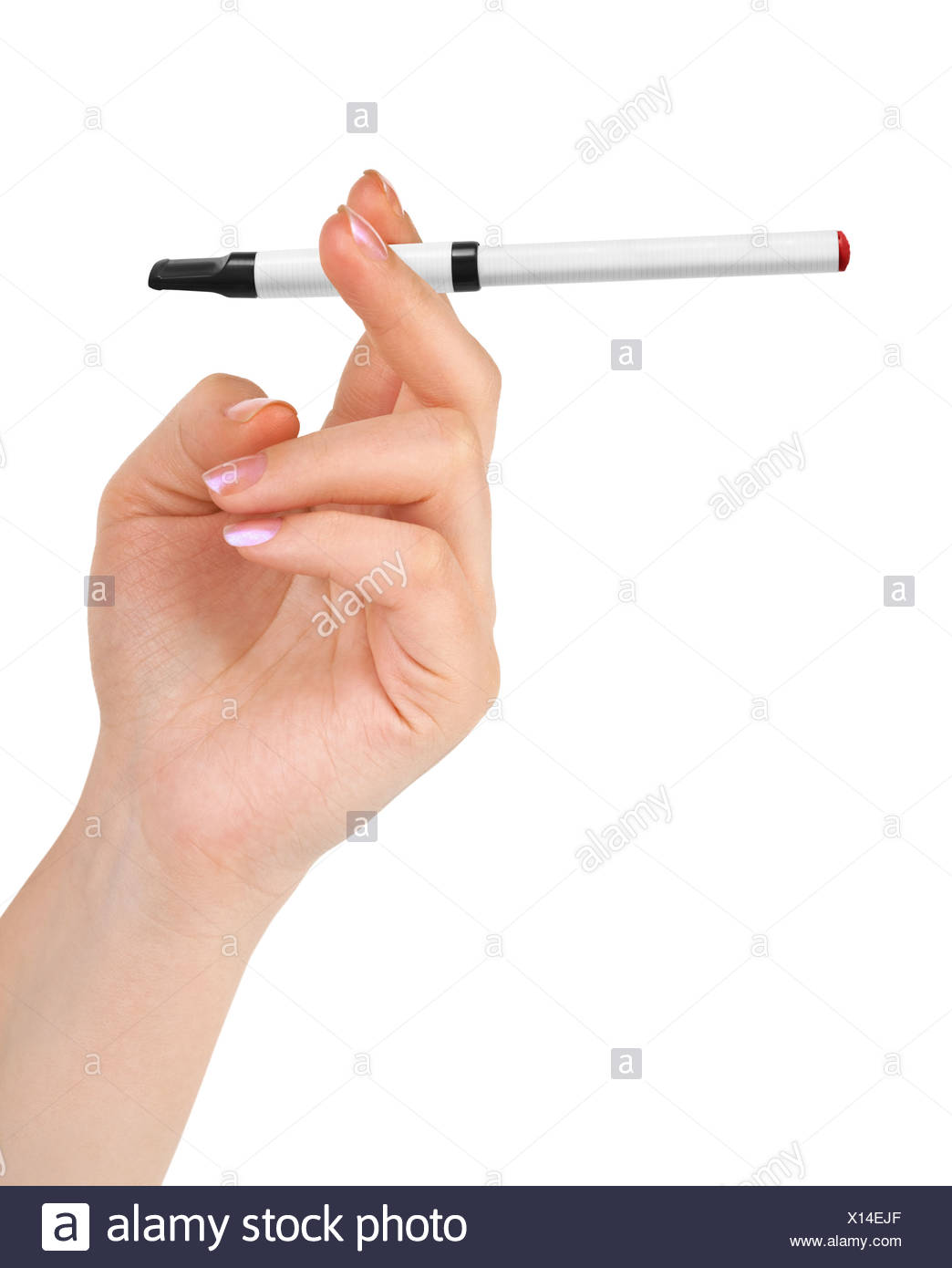 Hand with electronic cigarette - Stock Image