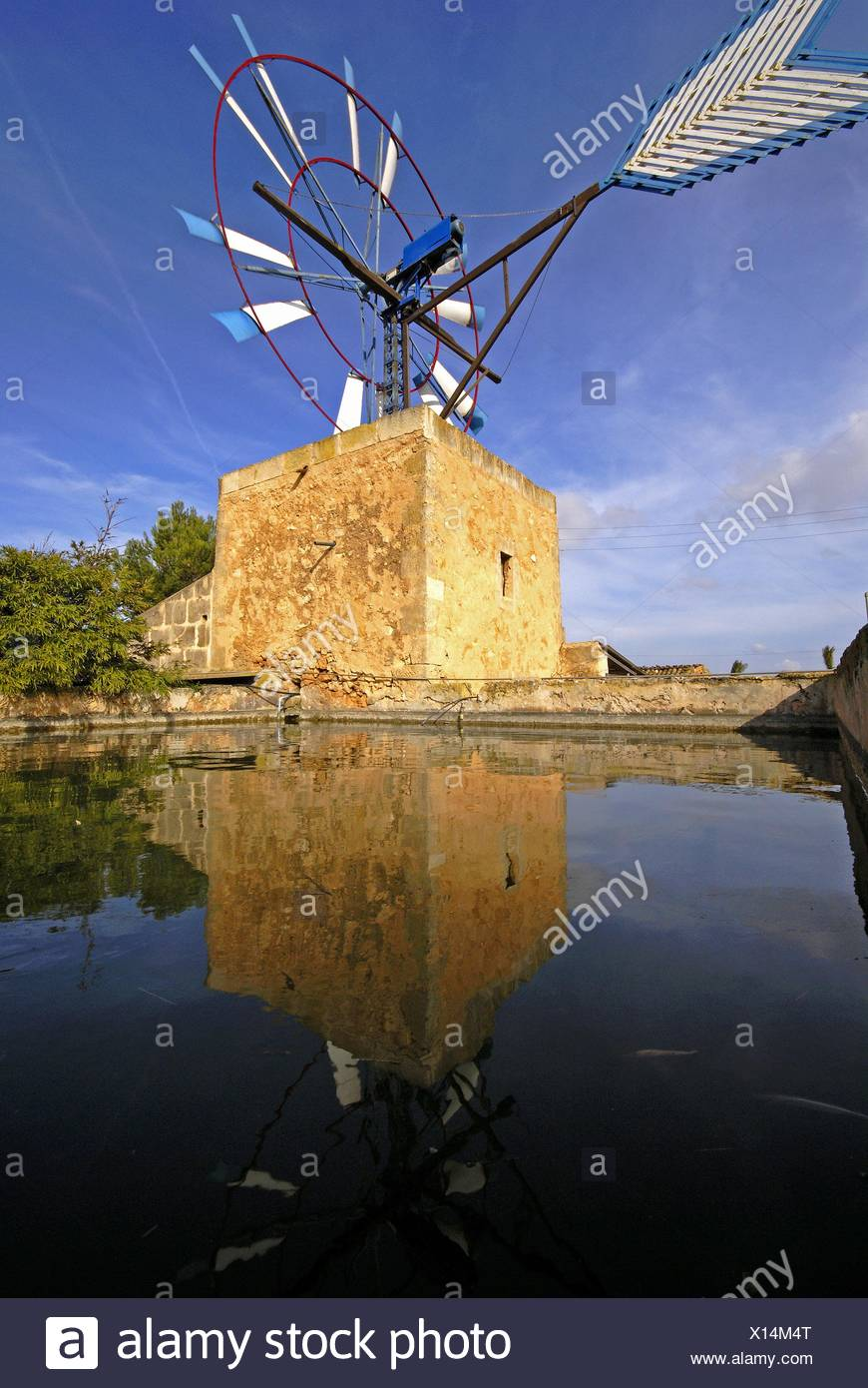 Water extraction mill XIX-XX century Campos Mallorca Balearic Islands Spain. - Stock Image