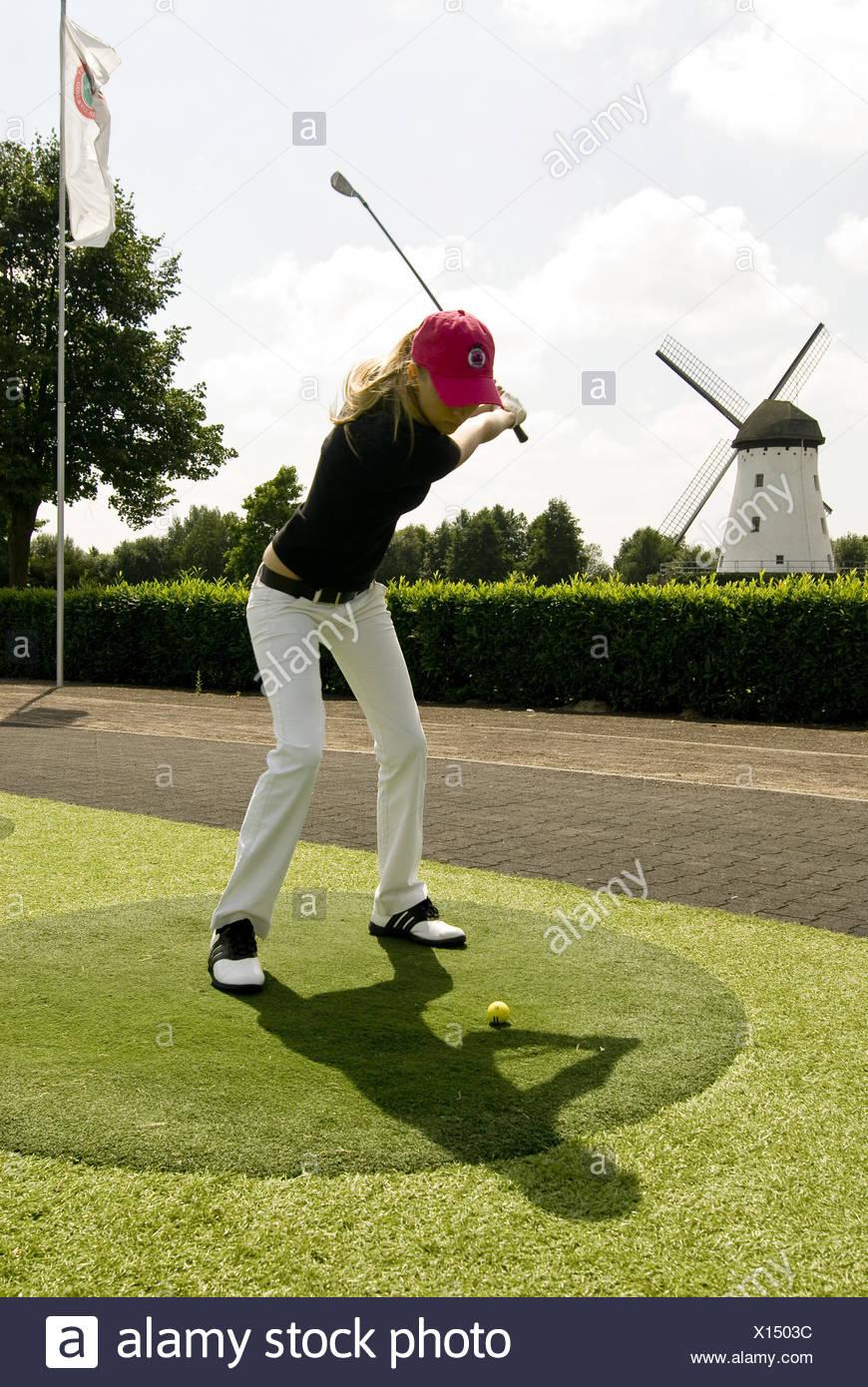 Golf player - Stock Image