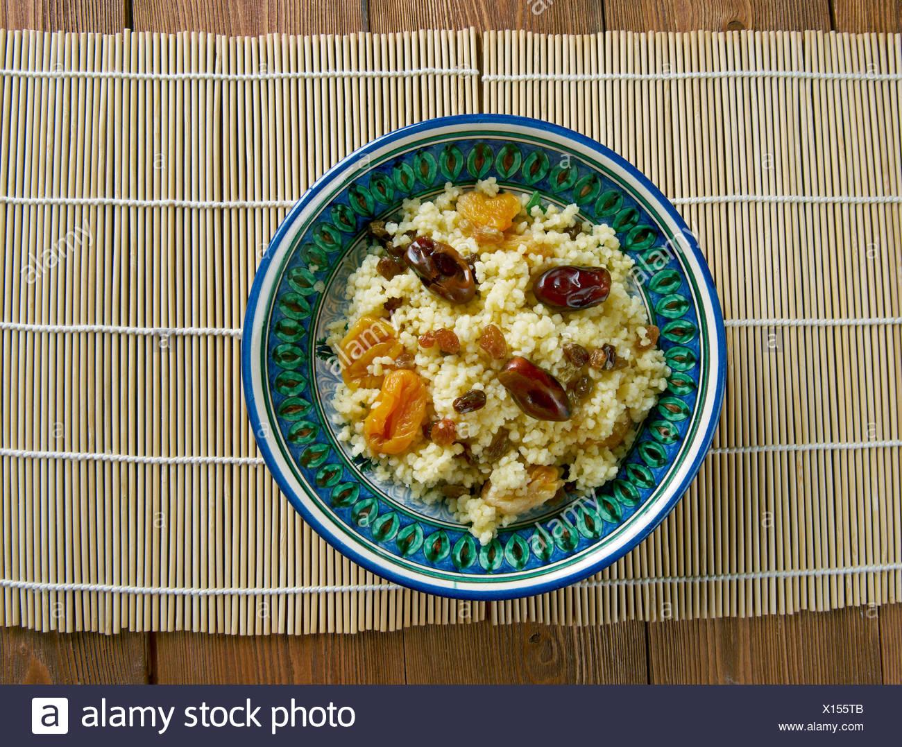 Mauritania dish  couscous - Stock Image