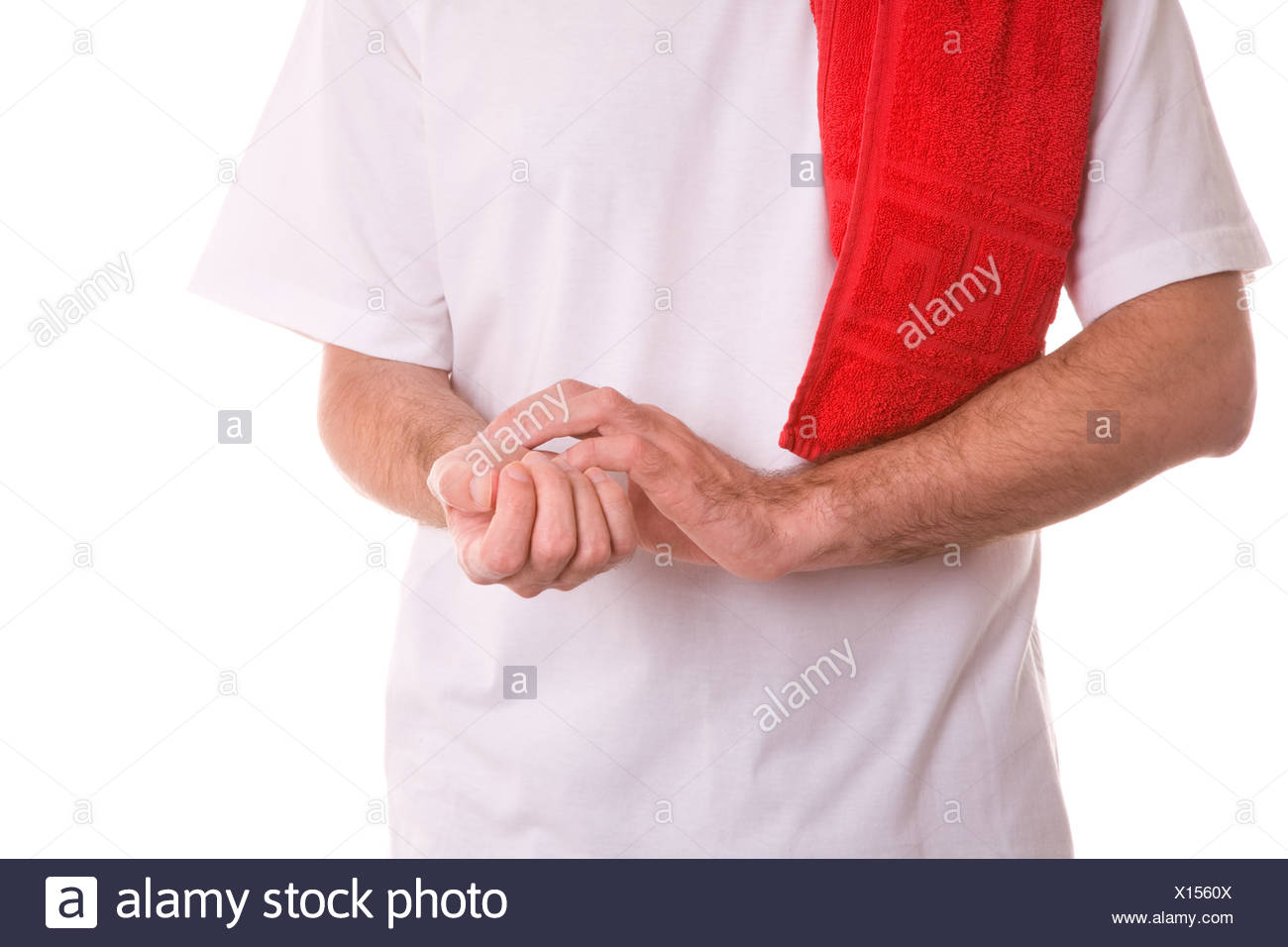 take the pulse - Stock Image