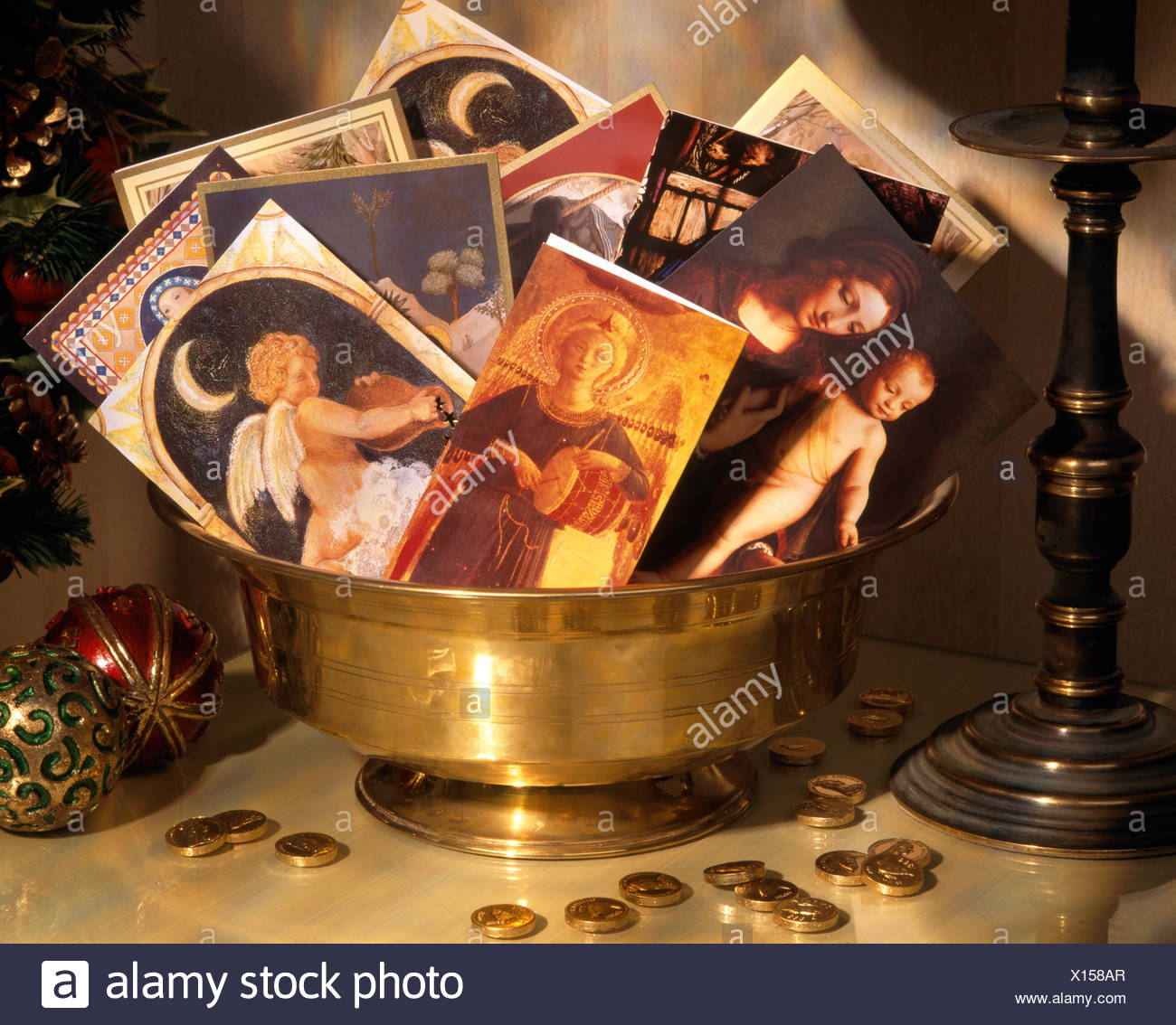 Religious Christmas Cards Stock Photos Religious Christmas Cards