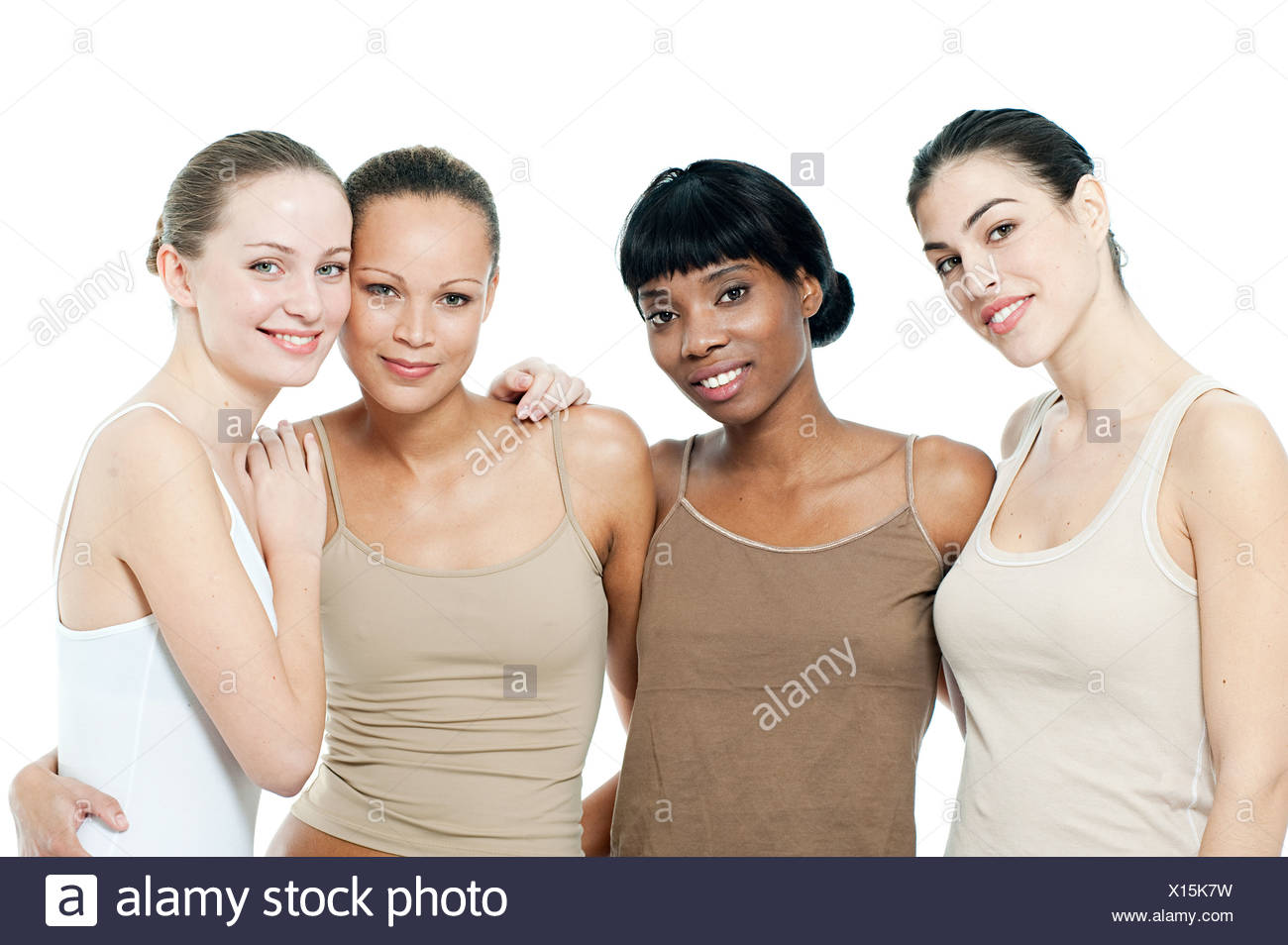 Four young women together - Stock Image