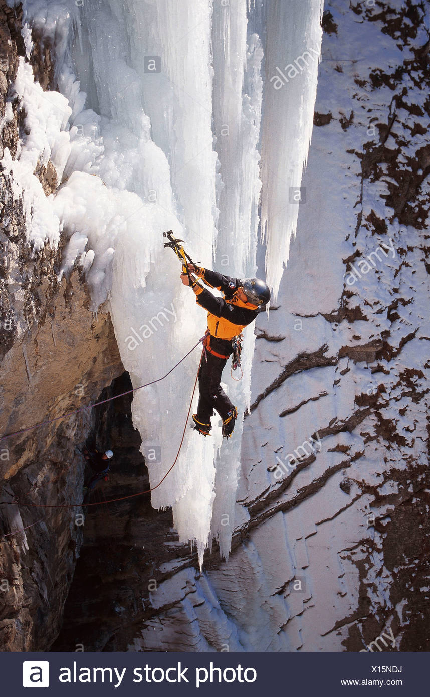 mountaineering sport ice ice climbing cliff wall froze