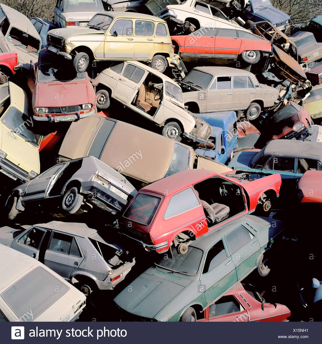 Scrapyard. Cestona. Spain - Stock Image