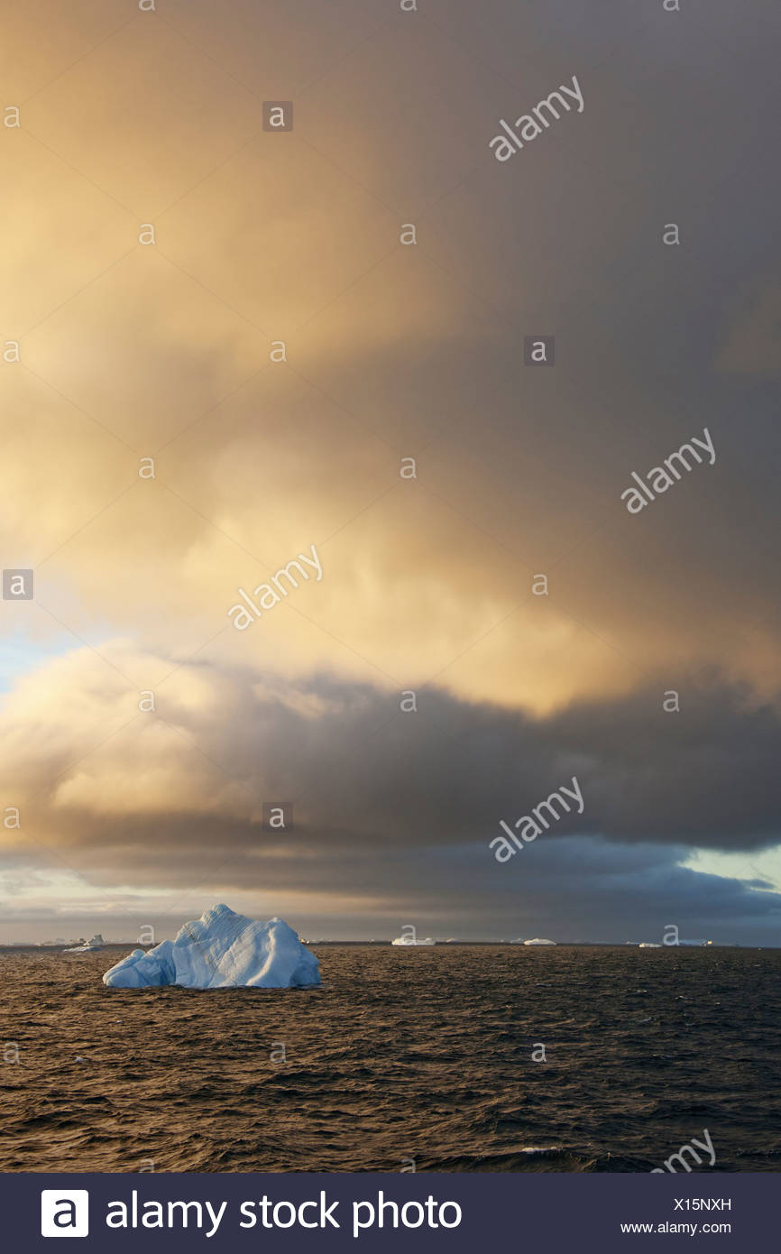 Icebergs at sunrise in the Weddell Sea Antarctica Weddell Sea Antarctica Stock Photo