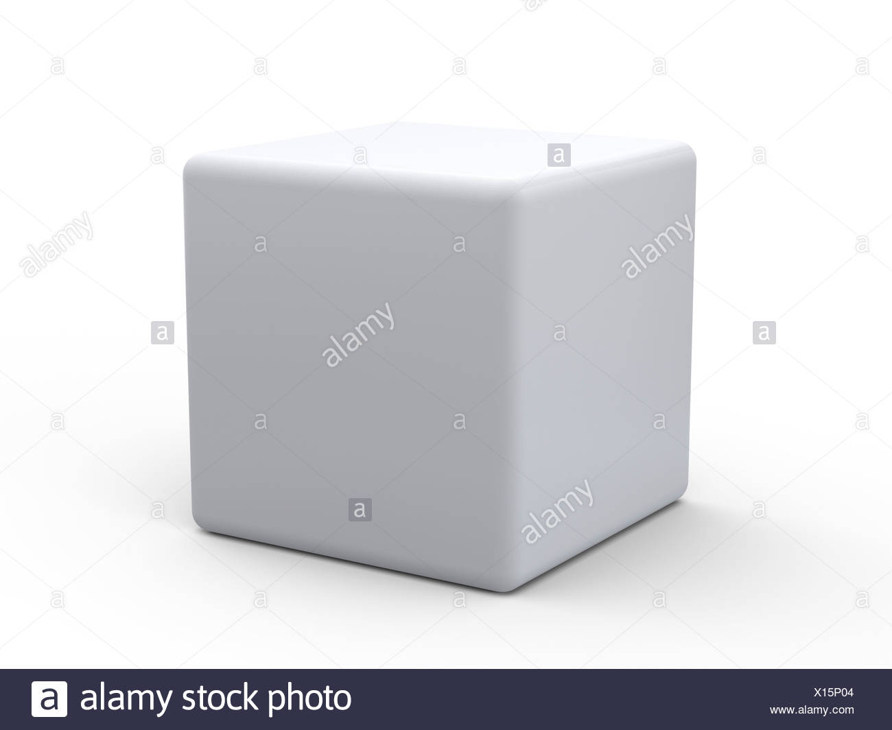 White cube, artwork - Stock Image