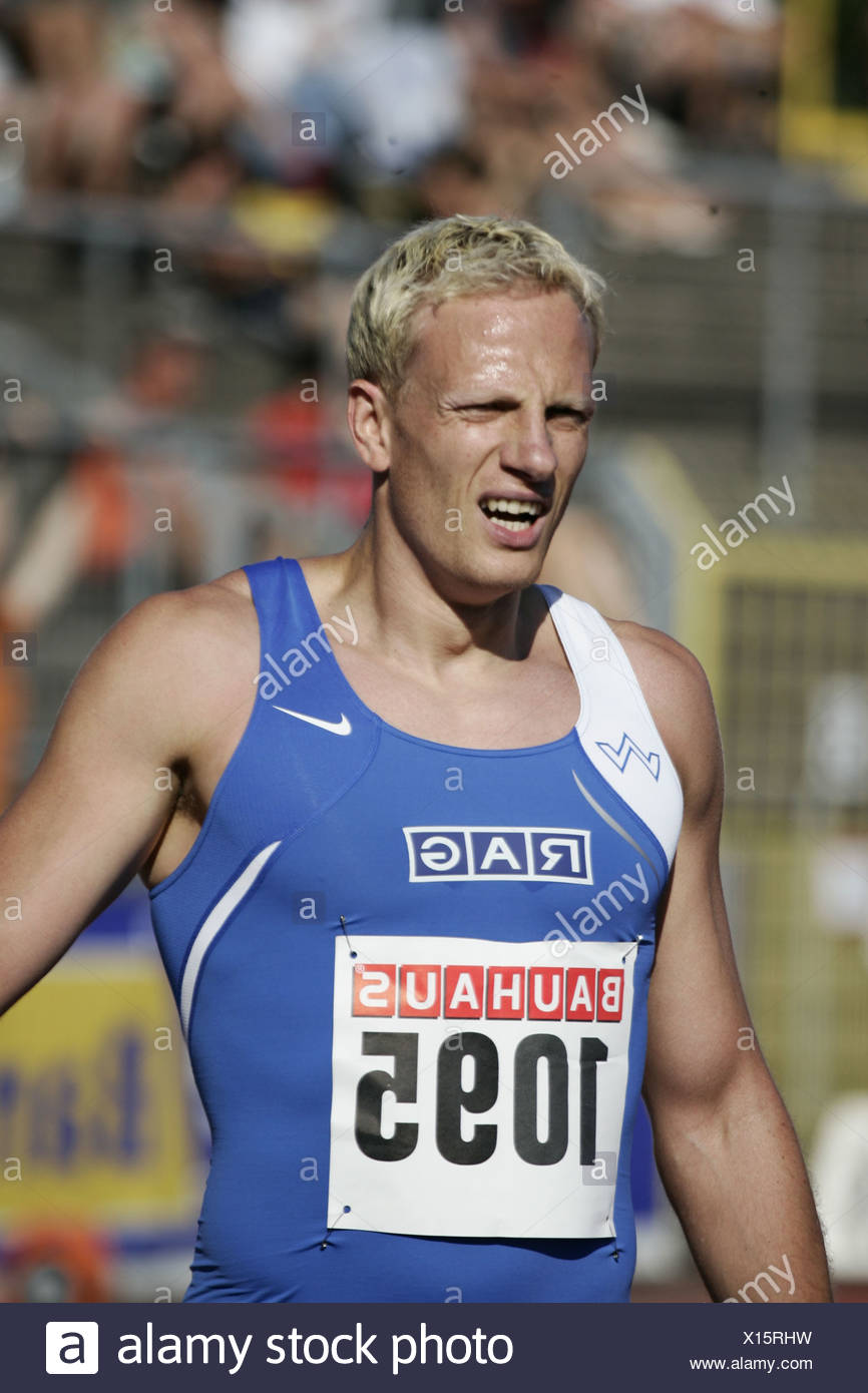 14.07.2006, sprint men, 1095 Blume, athletics, German championships Ulm, Baden-Wuerttemberg Germany - Stock Image