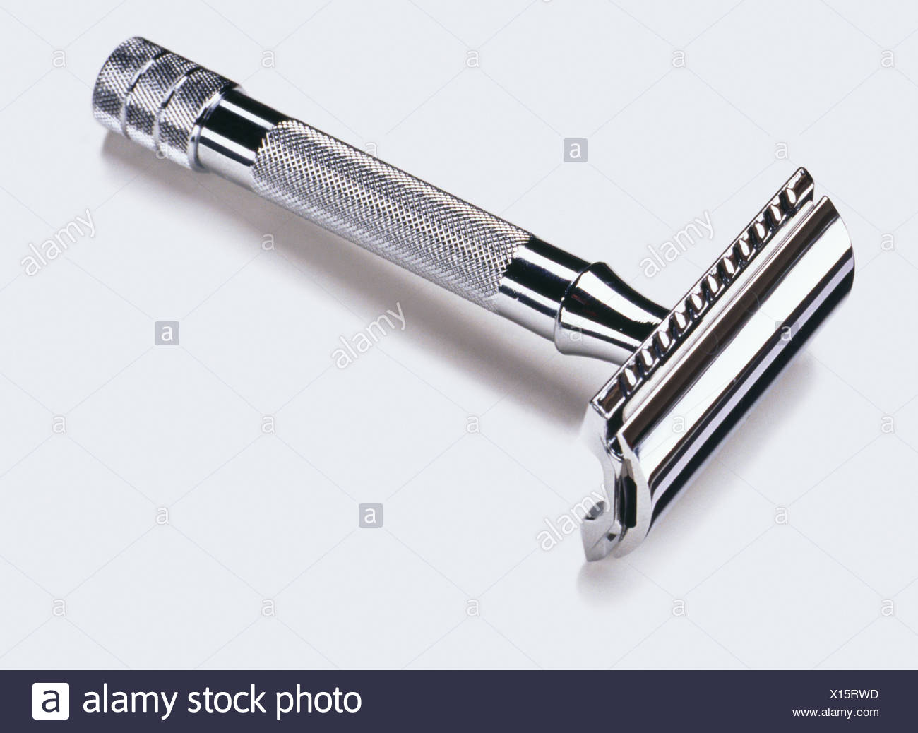A silver razor - Stock Image