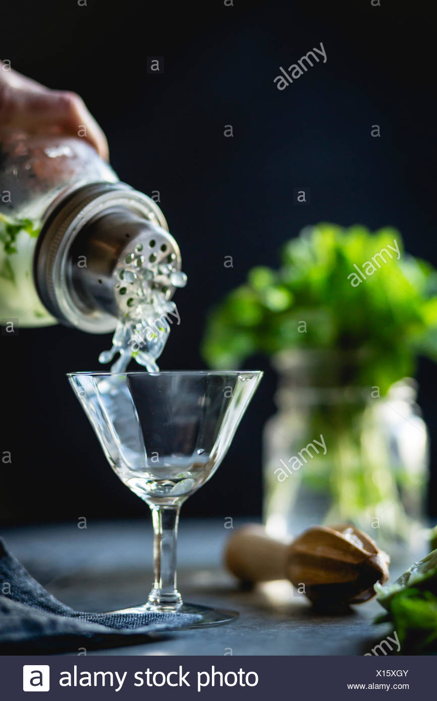 gin & mint cocktail - Stock Image