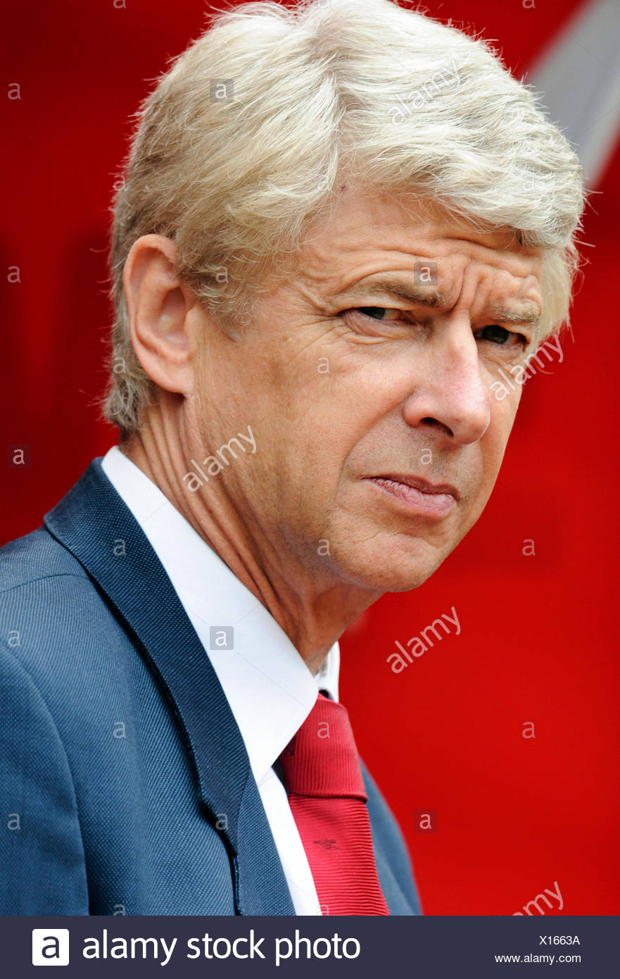 Arsene Wenger, manager of Arsenal during football test match between FC Cologne 1-2 Arsenal, Rhein-Energie-Stadion, Cologne - Stock Image