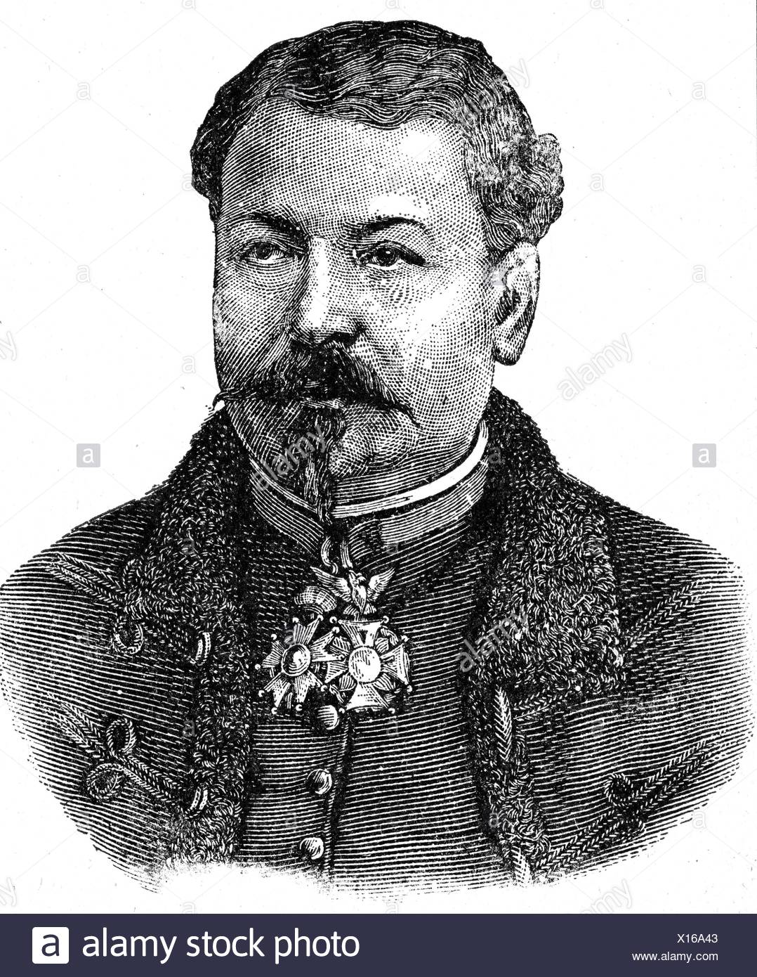Margueritte, Jean-Auguste, 15.1.1823 - 6.9.1870, French general, portrait, wood engraving, 1871, Additional-Rights-Clearances-NA - Stock Image